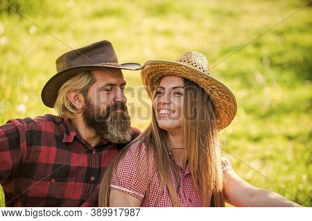 Romantic Attraction. Sexy Woman And Bearded Man Enjoy Romantic Relationship. Romantic Appeal. Sensua