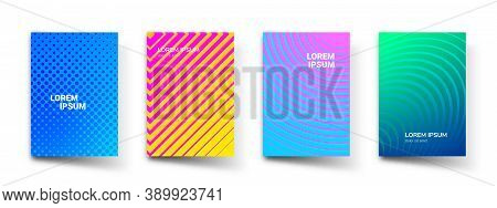 Abstract Pattern Gradient Background, Vector Templates. Modern Geometric Design With Abstract Minima