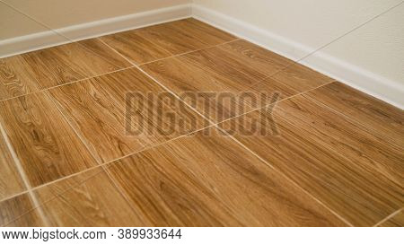The Tiles Are In Wood Color. Wood Tile Texture Background