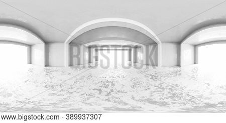 White Virtual Abstract 360 Degree Panorama Vr Design Hdr Style Equi Rectangular Hall 3d Rendering Il