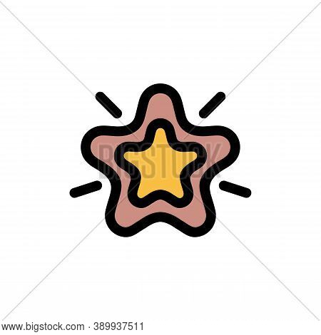 Customer Star Excellence Icon. Outline Customer Star Excellence Vector Icon For Web Design Isolated