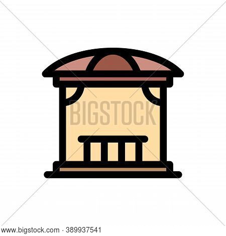 Gazebo Structure Icon. Outline Gazebo Structure Vector Icon For Web Design Isolated On White Backgro