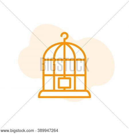 Birdcage Icon, Illustration Design Template