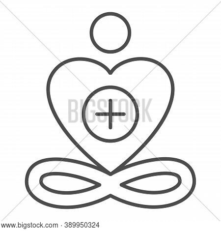 General Patient Well-being Thin Line Icon, Medical Tests Concept, Wellness Symbol On White Backgroun
