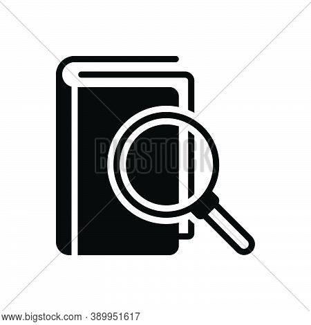 Black Solid Icon For Meaning Sense Interpretation Definition Magnifying-glass