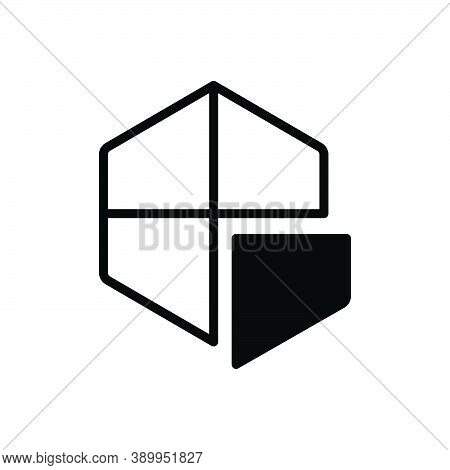Black Solid Icon For Section Part Piece Segment Fragment Component Division Portion