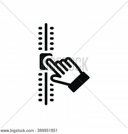 Black Solid Icon For Adjustment Regulation Readjustment Arrangement Volume Meter Control Level Techn