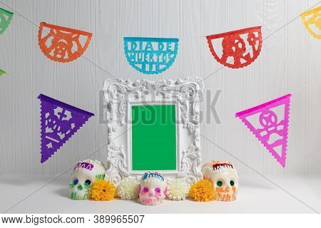 Day Of The Dead Offering, Mexican Altar, Day Of The Dead Offering, Mexican Altar
