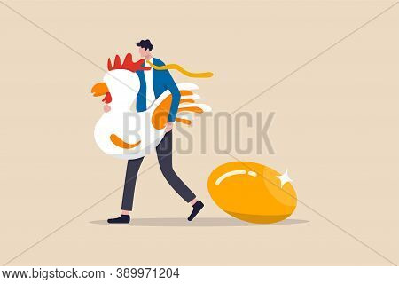 Golden Egg, Precious High Return Investment Or Success Retirement Planning With Dividend Concept, Ha