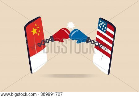 United States And China Technology War, 2 Countries Compete To Be Leader Of Tech Company, Cold War S