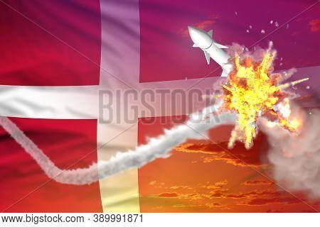 Strategic Rocket Destroyed In Air, Denmark Ballistic Missile Protection Concept - Missile Defense Mi
