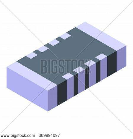 Transistor Capacitor Icon. Isometric Of Transistor Capacitor Vector Icon For Web Design Isolated On