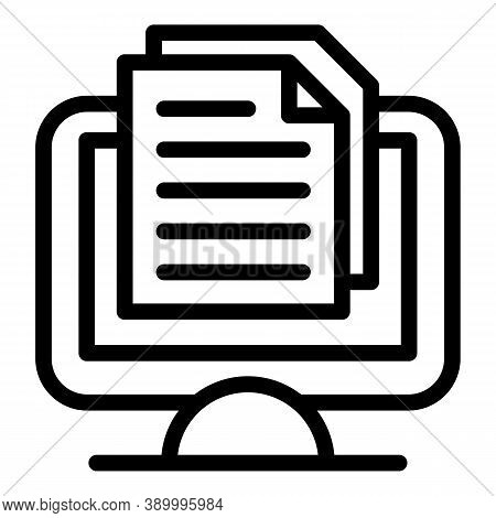 Web Doc Subscription Icon. Outline Web Doc Subscription Vector Icon For Web Design Isolated On White
