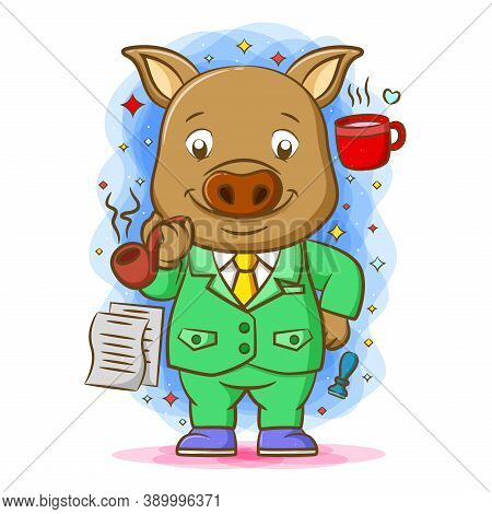 The Pig Use The Green Suite Around His Favorite Things