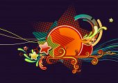 it is illustration of Candy colorful stars background. poster