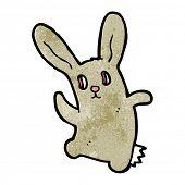 spooky zombie rabbit cartoon poster