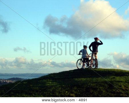 Bikers On Mt. Eden