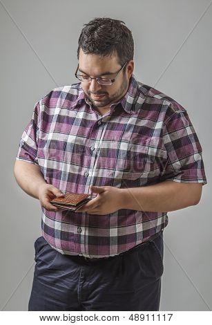 Looking At His Wallet