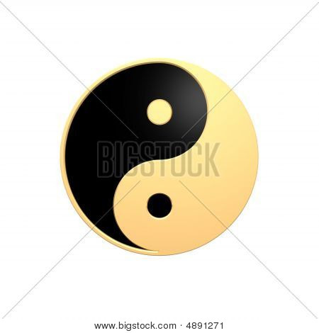 Gold Tai Chi - Yin Yang Sign