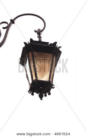 Old Lantern On A White Background