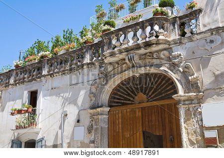 Delli Santi Palace. Manfredonia. Puglia. Southern Italy.