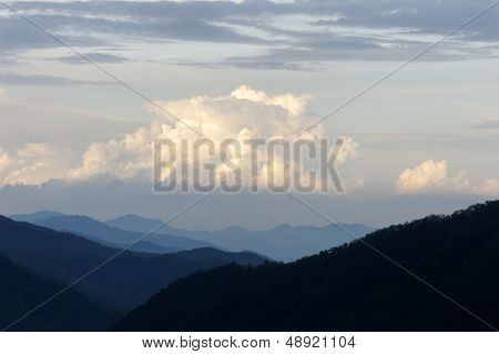 White Clouds With Mountains
