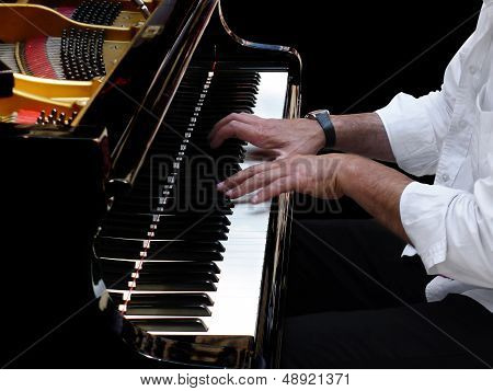 Pianist Plays Jazz Music