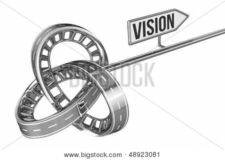 Different Way With VISION Sign
