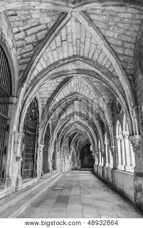 Ancient gothic cloister