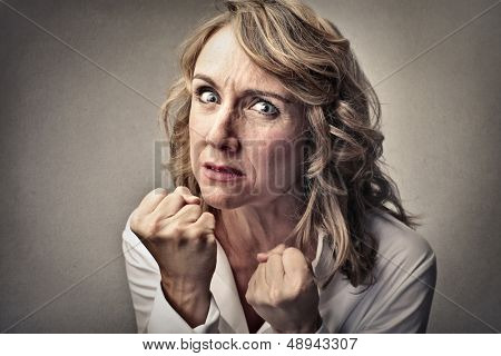 portrait of angry woman