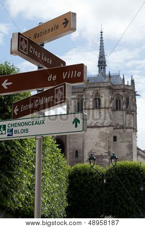 Chapel St. Hubert where Leonardo Da Vinci is buried in Amboise France.