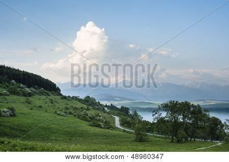 Road By A Lake