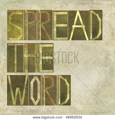 Textured earthy background image and design element depicting the words