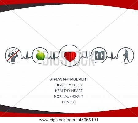 Health care symbols connected