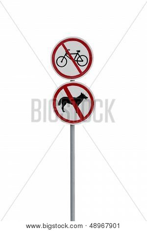 Prohibitory Road Signs