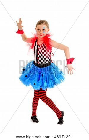 Abstract Circus Jester Performer