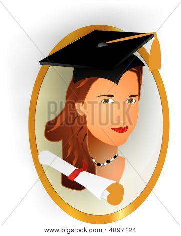 Picture Of A Female Graduate