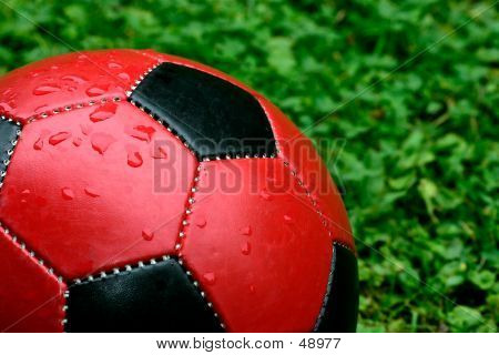 Red Soccer Ball
