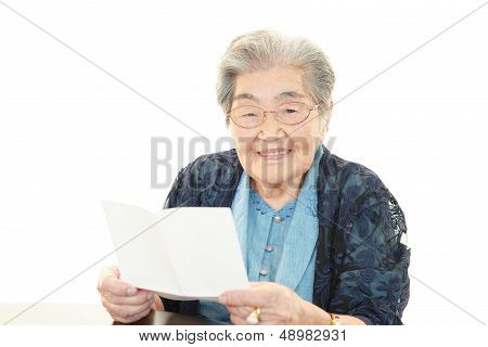 Smiling old woman