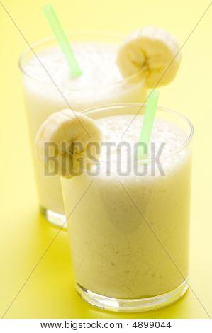 Fresh Fruit Milk Shake Banana And Caramel