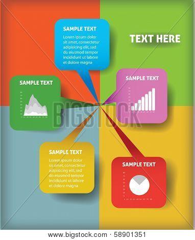 business graphs vector illustration eps 10