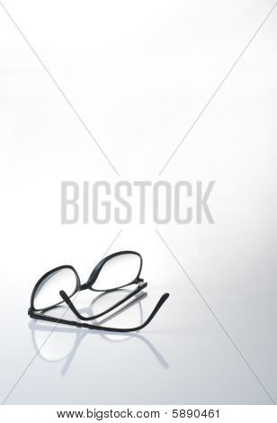Eye glasses on graduated background