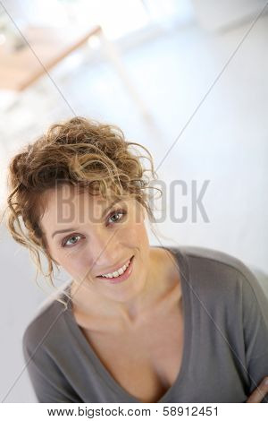 Portrait of attractive 35-year-old woman