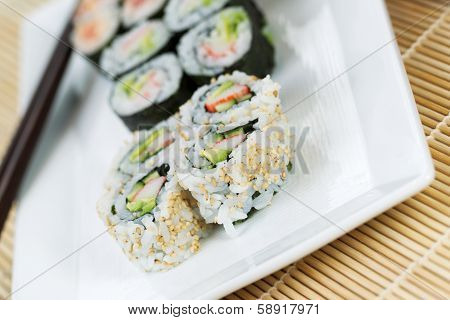 Handmade California Rolls - Sushi