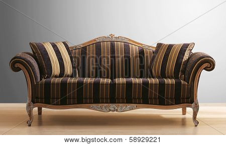 isolated vintage couch