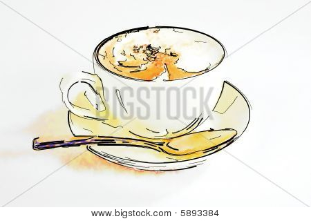 Cup With Hot Coffee