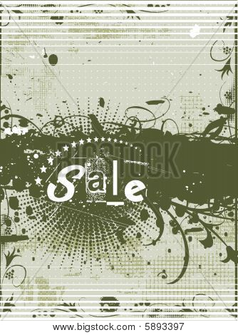 abstract floral grunge sample of sale banners with place for your text. poster