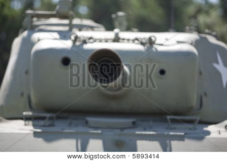American Military Museum Tank Cannon
