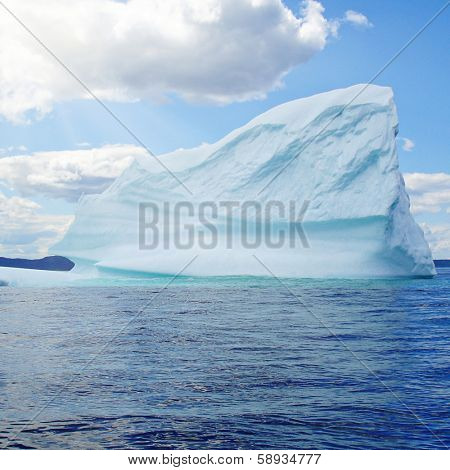 Iceberg in Atlantic Ocean off Newfoundland