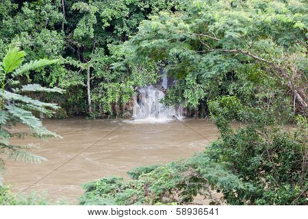 Flooded Macal River In Belize